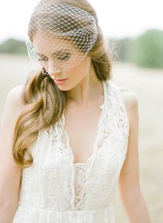 PARKER | birdcage veil in ivory or white, wedding veil, birdcage veils, blusher veil