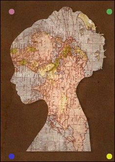 Things you can make with old maps. DIY ideas for old maps. Creative ways to use old maps in crafts and art. Map Crafts, Travel Crafts, Crafts With Maps, Art Carte, Map Globe, Old Maps, Silhouette Art, Mickey Silhouette, Art Plastique