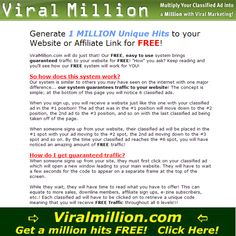 Viral Million Multiply Your Classified Ad Into A Million With Viral Marketing