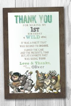 Where The Wild Things Are Thank You Notes by elenasshop on Etsy
