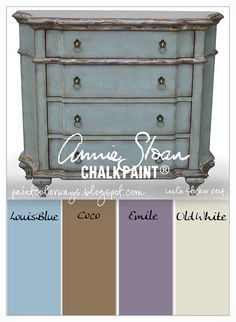 Start by painting a coat of Louis Blue. On top of that add accents of Emile and Coco to key areas. I like to mix in a little Old White into each of the colors and lightly add a little to small areas. This adds a lovely patina that is difficult to achieve in one color of paint.
