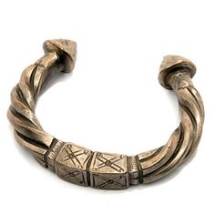 Africa | Silver bracelet from the Hausa people of the Tahoua region of Niger | 20th century