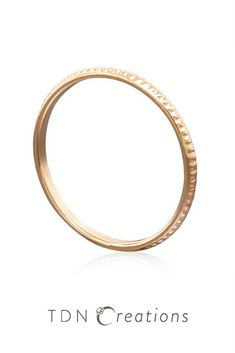 Looking for the perfect minimalist jewelry? This solid 14k gold stacking ring is perfect for you.