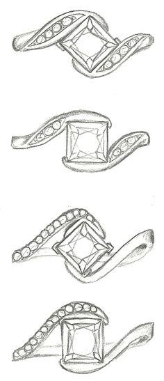 Mark Schneider Design - Princess cut diamond Whirlwind and Captivate