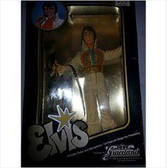 """ELVIS PRESLEY 1984 Eugene 12"""" Vintage Graceland Doll Microphone Original Box"""