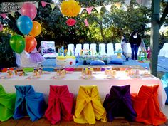 A Cute Mini Colourful Birthday With Did For Party Everything Was Small From Chairs To Chair Covers Food Sizing