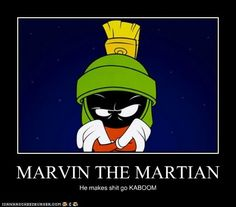 I got: Marvin The Martian!You're the baddest of the bad! You're a clever and competent martian who happens to be very soft-spoken. You've done some very evil things in your past, but at the end of the day, you're a loved Looney Tunes character!