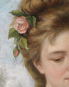 Jeunes filles avec des roses (Détail) T.Mazzoni 1877