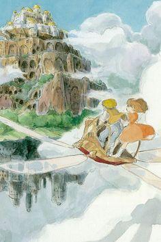 Hayao Miyazaki's Laputa Castle In The Sky.