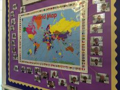 World map to show the multicultural heritage of your class!