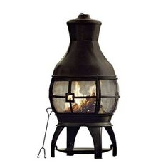 Garden Treasures 45-in H x 22-in D x 22-in W Black Steel Chiminea  Item #: 291623 |  Model #: SRCH06  $129.00