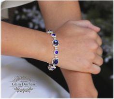 Glam Duchess Royal Blue Crystal Fashion Bracelet