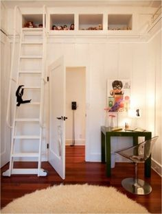 Lots of great ideas about how to use ladders for more than putting up Christmas lights!
