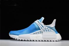 "120082986 Pharrell Williams x Adidas Originals NMD Human Race ""Peace"" Blue"