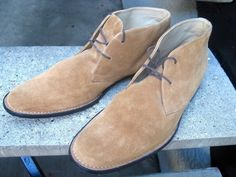 BANANA REPUBLIC Tan Suede Leather Boots 11.5 #BananaRepublic #AnkleBoots