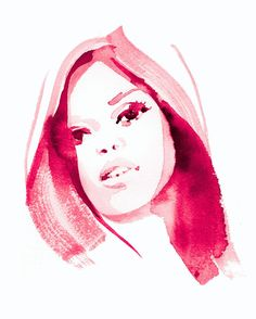 FIONA PORTRAIT watercolour 2013 on Behance