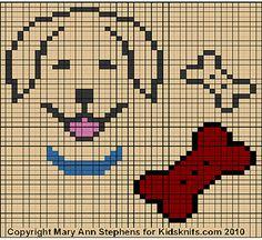 Golden Retriever Chart by Mary Ann Stephens, copyright 2010 Pixel Crochet Blanket, Tapestry Crochet, Crochet Chart, Cross Stitch Charts, Cross Stitch Patterns, Golden Retriever Cross, Dog Chart, Bobble Stitch, Knitting Charts