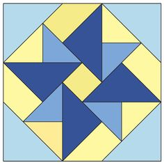 Double Windmill Block: FREE Patchwork Quilt Block Pattern - The Quilting Company Barn Quilt Designs, Quilting Designs, Mccall's Quilting, Lap Quilt Patterns, Pattern Blocks, Star Quilt Blocks, Block Quilt, Pinwheel Quilt, Lap Quilts