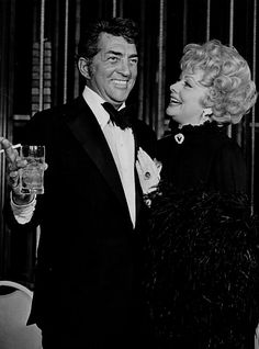 Dean Martin and Lucille Ball at Lucy's Dean Martin Celebrity Roast.