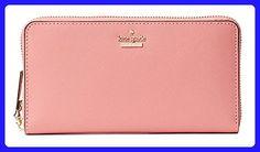 Kate Spade New York Cameron Street Lacey zip around continental wallet, Yucatan Pink - Wallets (*Amazon Partner-Link)
