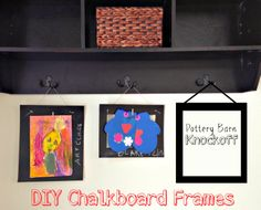 Two It Yourself: Pottery Barn Knockoff Chalkboard Frames
