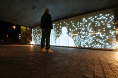 Just about one of the coolest uses of LED is this wall in a Norway pedestrian tunnel that was lights up when you walk by. It was made for by Stig Skjelvik
