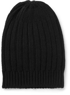 1c59024df37 Black Beanie by Rick Owens. Buy for  240 from MR PORTER