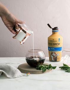 Minty Iced Coffee with @gevalia cold brew!