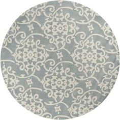 Marvelous Zephyr Contemporary Trellis Area Rug (7u002710 Round) | Slate, Bald Hairstyles  And Spaces