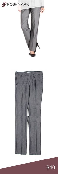 """Calvin Klein Dress Pant Size 2 Waist: 30"""" Inseam: 30"""" Rise: 8""""  Navy blue/grayish color Skinny leg fit 81% Polyester 15% Rayon 4% Spandex  Excellent like new condition! Calvin Klein Pants Skinny"""