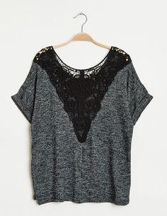 Tee-shirt dos macramé noir - Jennyfer e-shop