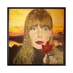 Glittered Joni Mitchell Clouds album by michel328 on Etsy