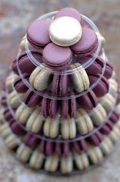 Purple and gold goodies! See more purple wedding inspiration: http://www.squidoo.com/purple-themed-wedding