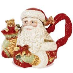 Чайник Дед мороз с подарками новогодняя посуда Длина 25 см