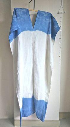 Indaco goccia kaftano Kaftan Dress/Indigo di MaikaHandworks