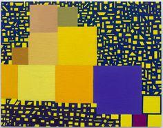 "Thomas Nozkowski ""Untitled (9-34)"" 2014. oil on linen on panel, 22"" x 28"" (55.9 cm x 71.1 cm)."