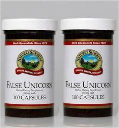 Naturessunshine False Unicorn Glandular System Support Herbal Dietary Supplement 450 mg 100 Capsules (Pack of 2) Nature's Sunshine,