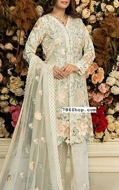 Chiffon Fabric, Chiffon Dress, Fashion Pants, Fashion Dresses, Add Sleeves, Designer Party Wear Dresses, Pakistani Designers, White Chiffon, Embroidered Silk