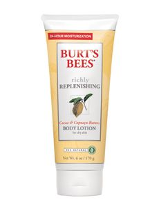 Richly Replenishing Cocoa & Cupuaçu Butters Body Lotion.  http://www.burtsbees.com/natural-products/body-moisturizers/richly-replenishing-cocoa-cupua-u-butters-body-lotion.html#.  Good stuff !  Specially if you have dry skin like I do.
