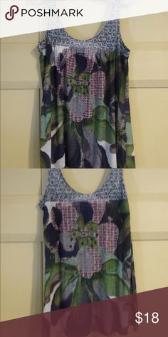 Abstract top This awesome top has an awesome pattern that will leave people asking you where they can get one. Thin and soft and everything you need to put together a cute outfit with little effort! Urban Outfitters Tops Tank Tops
