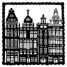 Baroque Houses Papercut