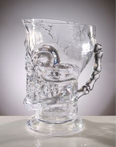 Clear Skull Pitcher