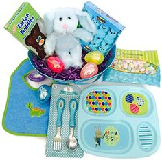 Baby Boy's First Easter Basket Bundle Includes Plush Bunny, Chocolate Bunny, Peeps, Jelly Beans, Divided Dish Set, Bib, Plastic Eggs, Filler Grass and Basket Combination http://www.amazon.com/dp/B01CC7S5Z0/ref=cm_sw_r_pi_dp_7JG4wb0VFHA2D