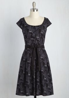 Black Cat Magic Dress, #ModCloth