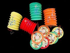 12 SMALL MIX COLOR PAPER LANTERN CHINESE NEW YEAR BIRTHDAY WEDDING FETE PARTY | eBay - as a garland ?
