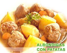 Albóndigas caseras con patatas
