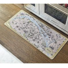 Vintage Paris Map Comfort Mat | Ballard Designs