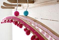 Home-Dzine - Pretty coat hangers to make: http://www.home-dzine.co.za/crafts/craft-pretty-hangers.htm