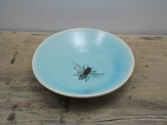 Porcelain Blue Tiny Bee Bowl by FaithAdamsCeramics on Etsy, $14.00