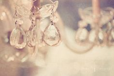 Crystal Chandelier Sparkle Warm Champagne by HelenMPhotography #fpoe